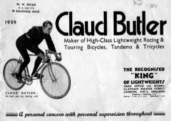 Claud Butler bike advert