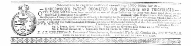 Underwoods Odometer Ad 1885