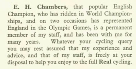 Ernie Chambers on the CB staff in 1936